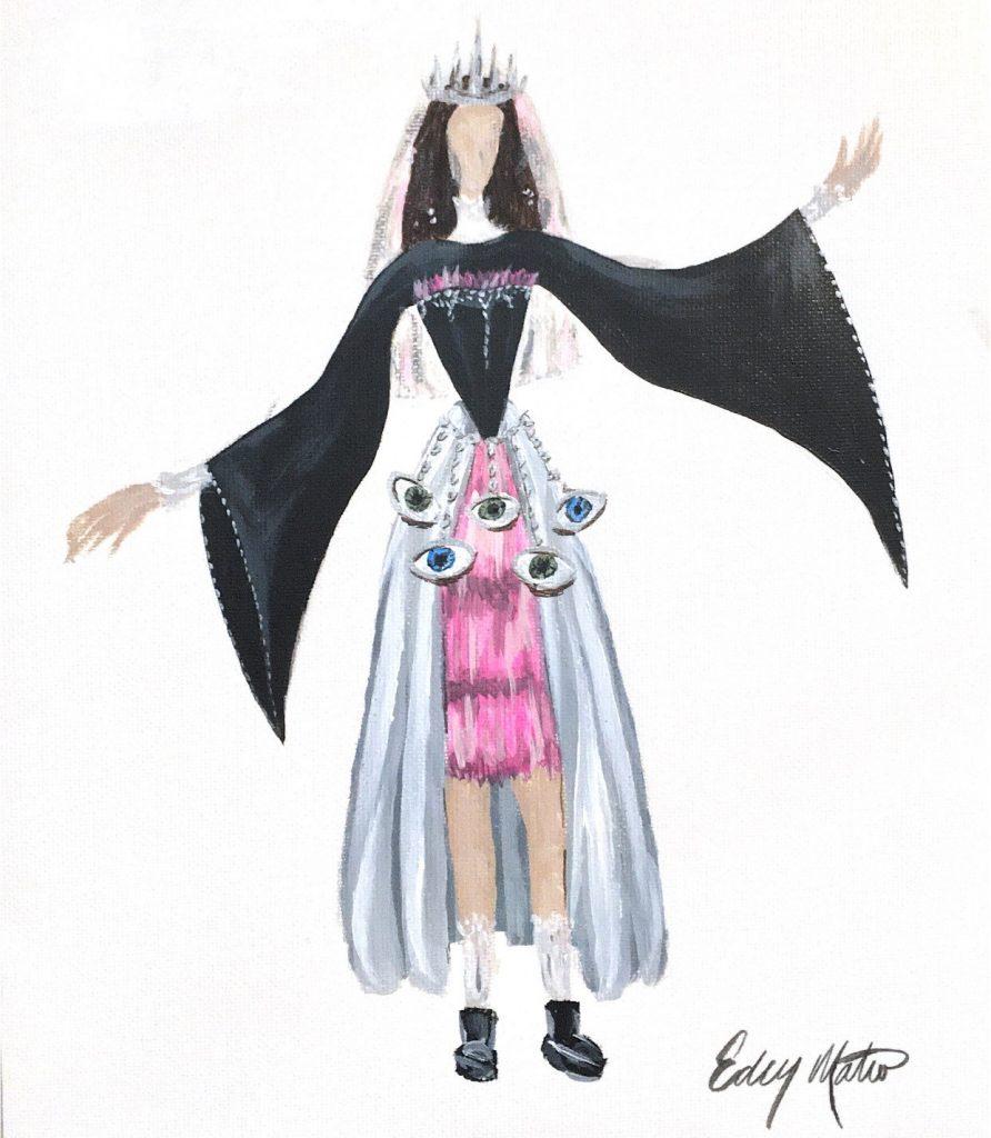 Teen Fashion rendering by Eden Mateo