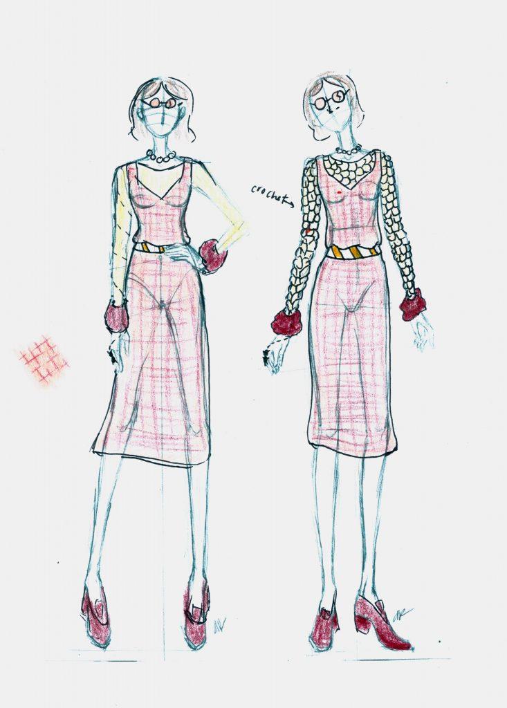 Teen Fashion rendering by Emma Beatty