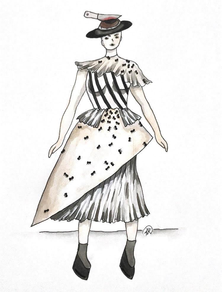 Teen Fashion rendering by Kiersten Reaume