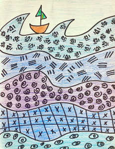 DillyDally with Dalí, Pattern Sea example The Dali Museum
