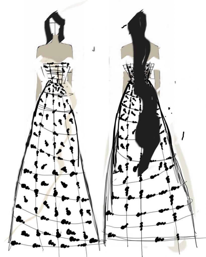 Teen Fashion rendering by Sofia Pickford