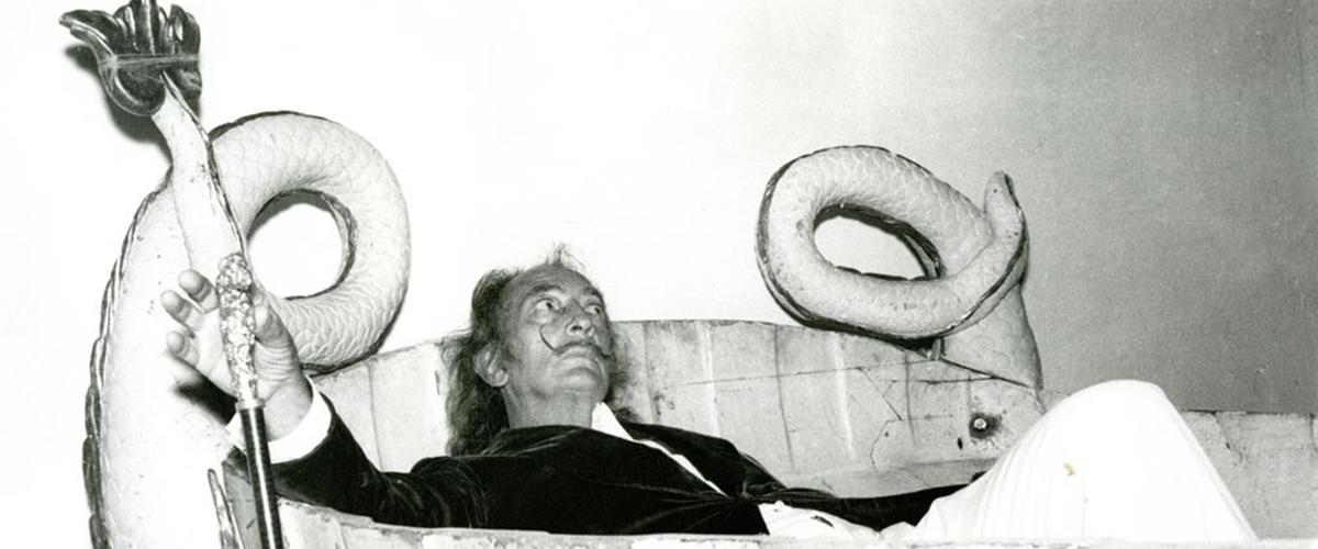 Photo of Dali Sitting in a Bathtub by Meliton Casals