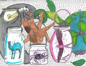 The Dali Museum's 2021 Student Surrealist Exhibit Online art by Jocelyn Salomon