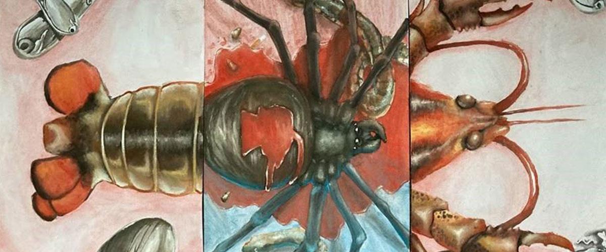 Student Surrealist Exhibition, Spider Lobster