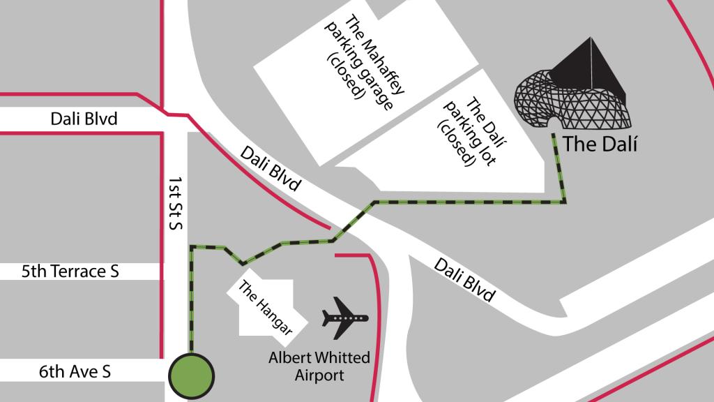 2021 Grand Prix walk-up map to The Dali