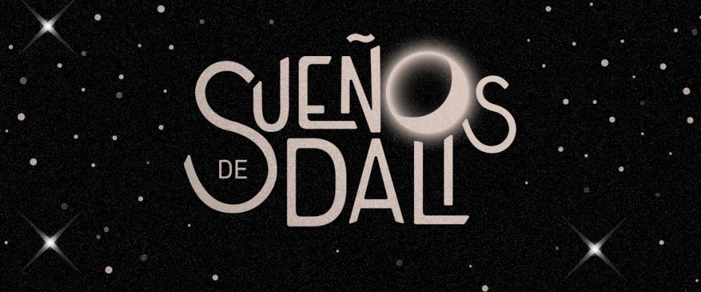Sueños event banner with moon and stars