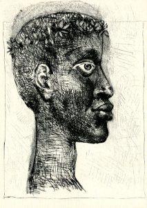 Picasso's portrait of Aime Cesaire.