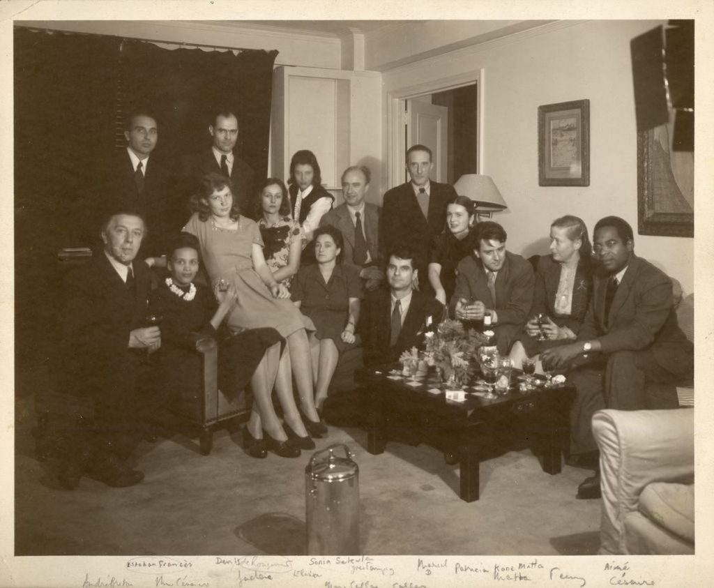 The Surrealist group with Aime Cesaire