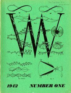 Cover of surrealist journal, VVV no. 1, 1942
