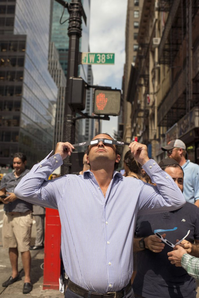 The Great American Eclipse, NYC, 2017 by Chris Bowman